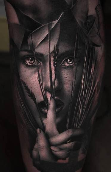 hello darkness tattoo