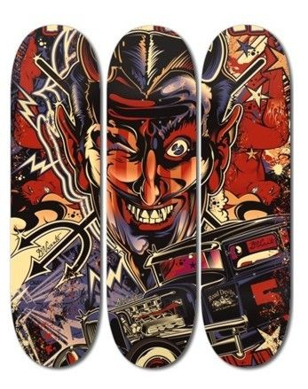 David Vicente Custom Skateboards Design